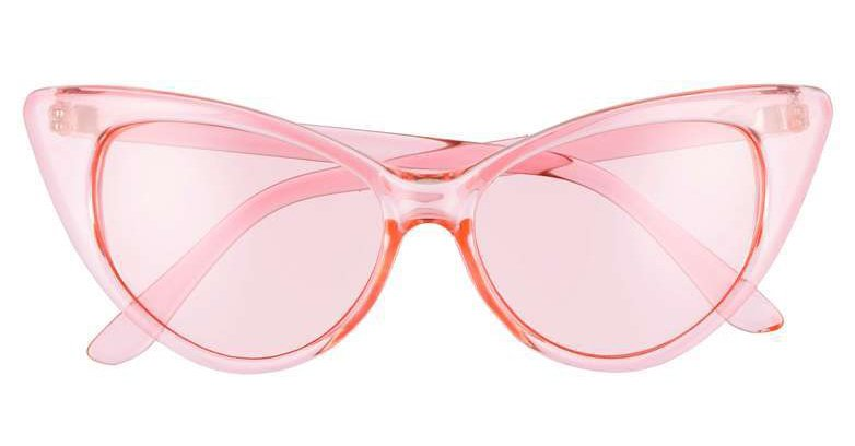 55mm Transparent Pastel Cat Eye Sunglasses  GLANCE EYEWEAR