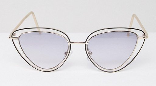 ASOS DESIGN Almond Multi Frame Cat Eye Sunglasses