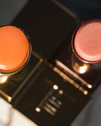 Tom Ford Lumière Lip Color Lip vs Orgasm Afterglow Lip Balm