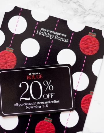 Sephora Beauty Insider Holiday Bonus Event 11/2-11/5
