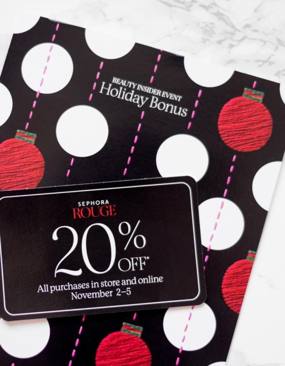 Sephora Beauty Insider Holiday Bonus Event 11/2-11/5