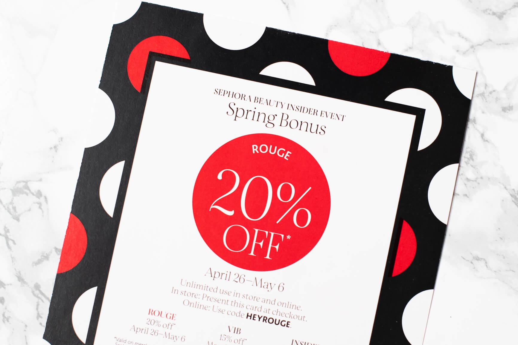 Sephora Spring Bonus Booklet