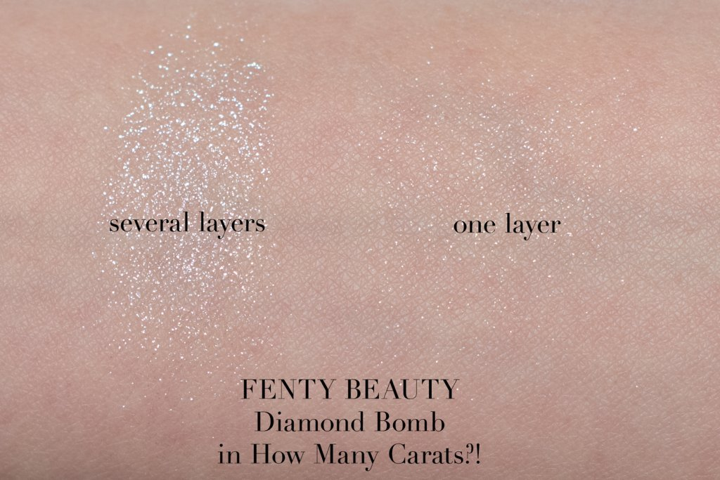 fenty diamond bomb how many carats highlighter swatches
