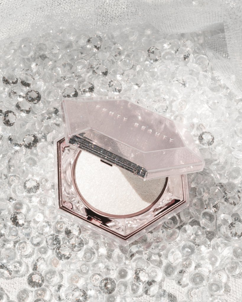 Fenty Beauty highlighter on diamonds
