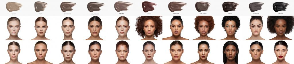 Anastasia Beverly Hills brow swatches
