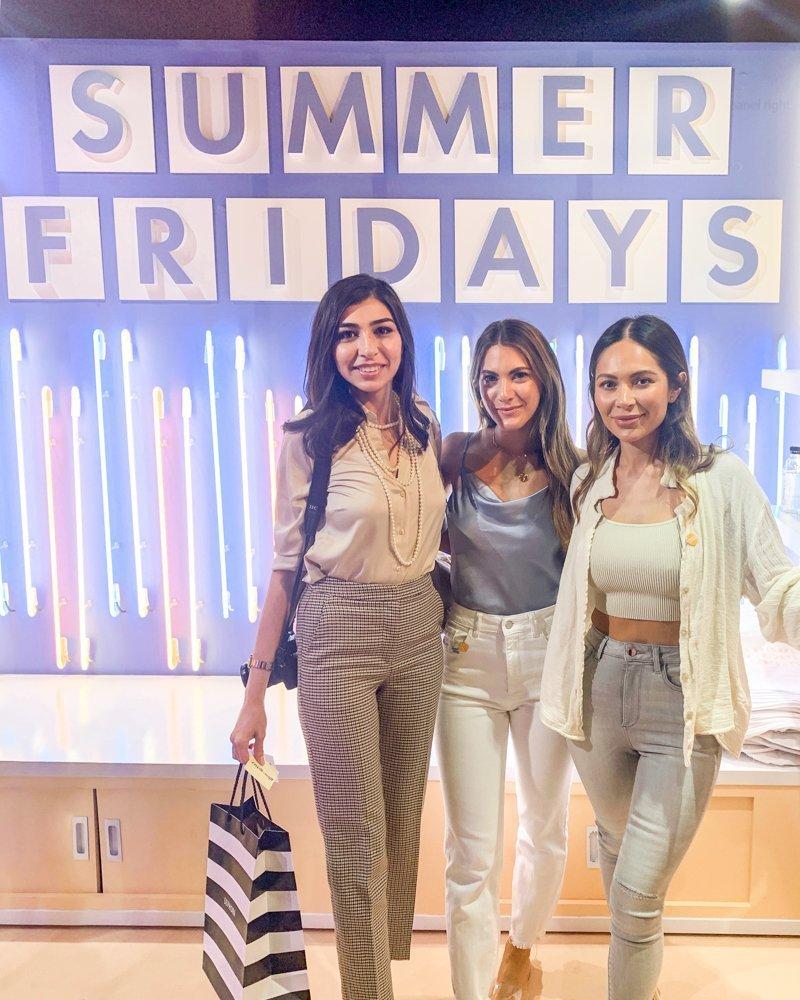 Marianna Hewitt and Lauren Gores of Summer Fridays and Farah Gasimzade of Sun Kissed Blush