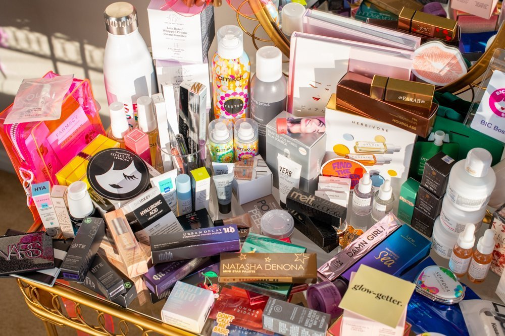 Sephora beauty products collected at Sephoria