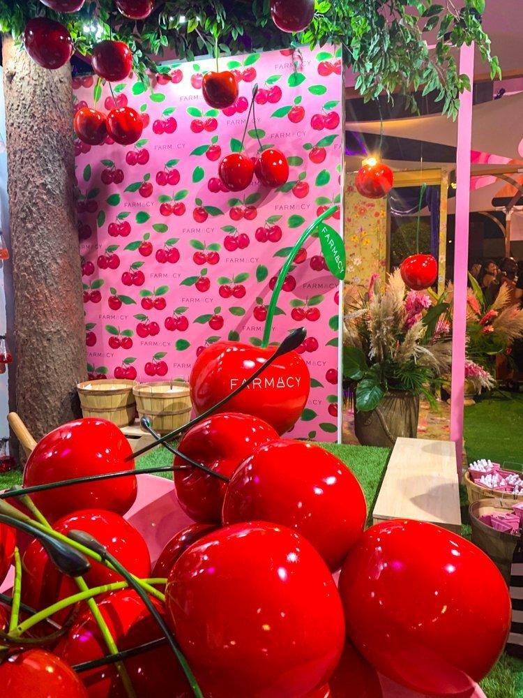 Farmacy Beauty acerola cherry booth at Sephoria House of Beauty