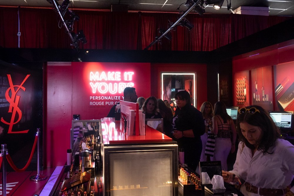 YSL Lipstick Booth at Sephoria House of Beauty