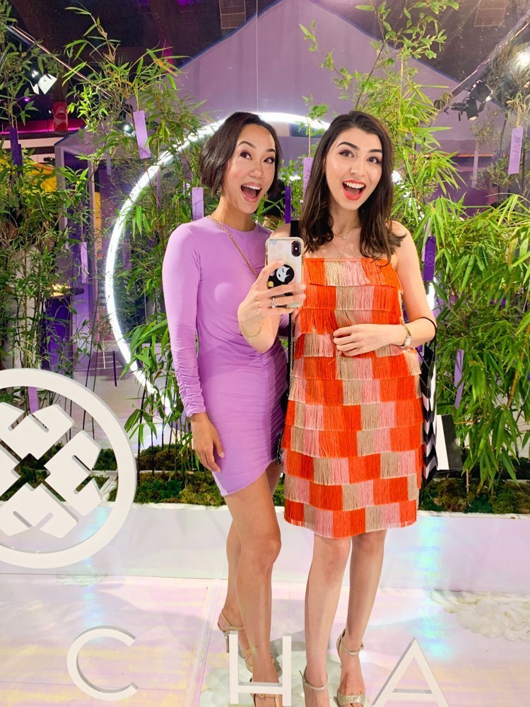 Farah Gasimzade (Sun Kissed Blush) and Victoria Tsai (Tatcha)