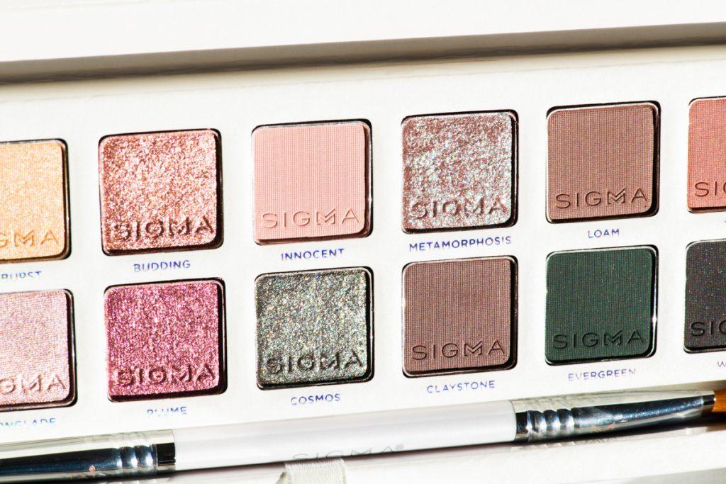 Sigma Beauty Enchanted Eyeshadow Palette closeup