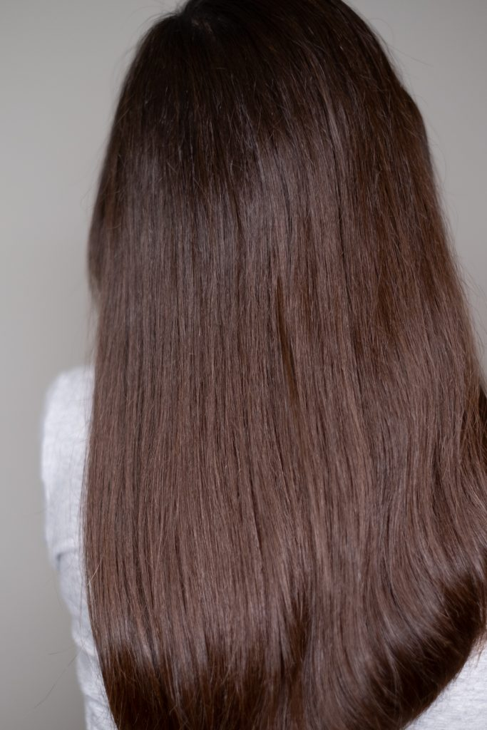 smooth and shiny hair
