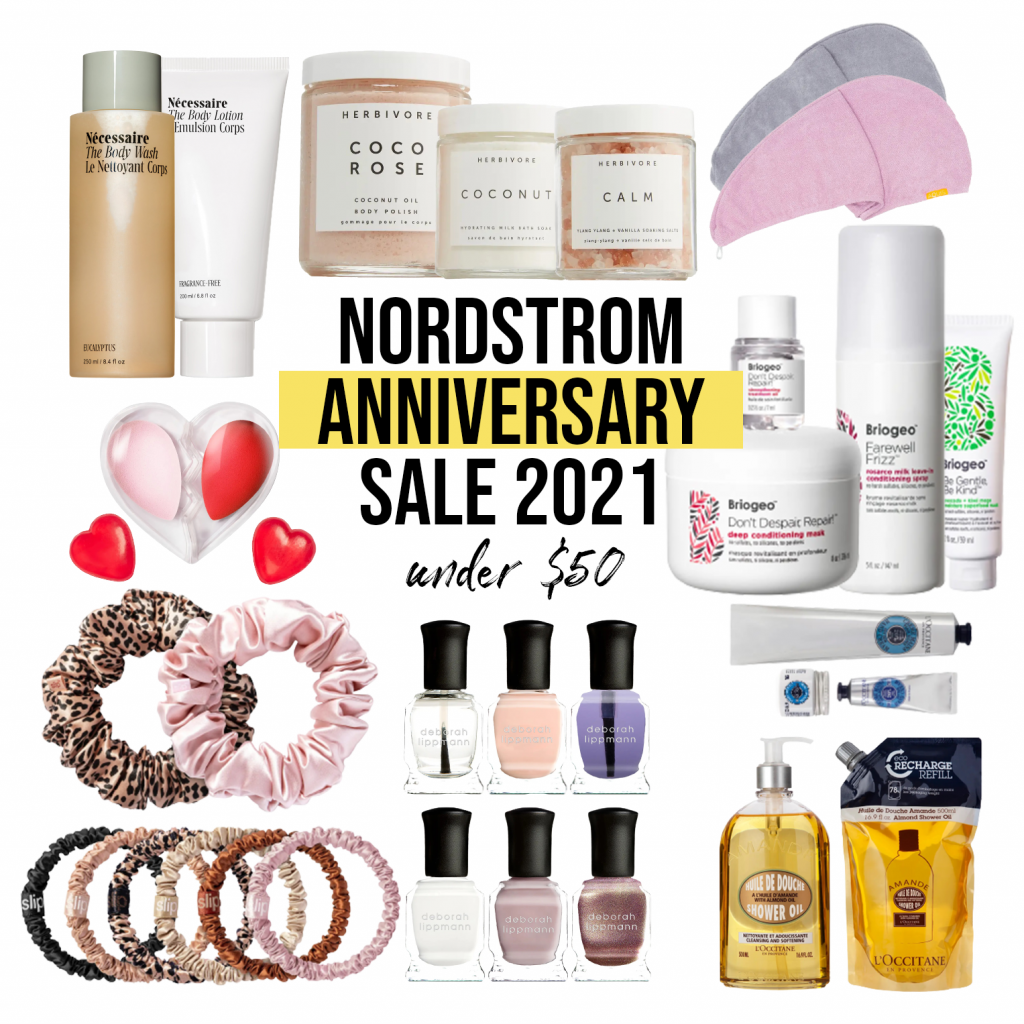 Nordstrom anniversary sale beauty picks under $50, $100, and luxury beauty