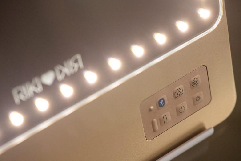 RIKI LOVES RIKI Skinny Vanity Lighted Mirror control panel