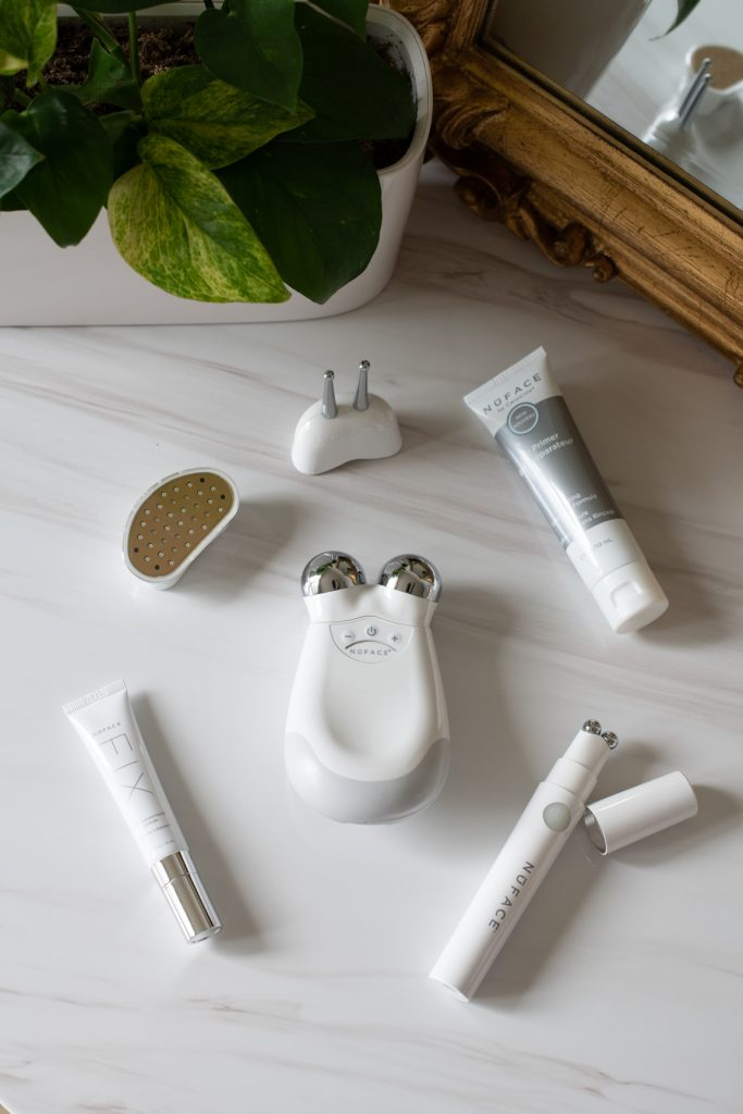NuFACE Trinity device and accessories, Nuface FIX device and gel primers